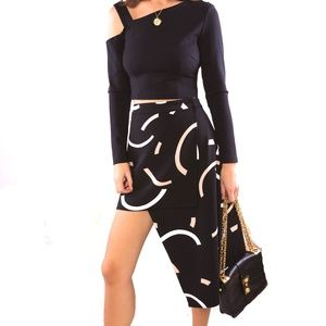 NWOT/CMEO COLLECTIVE Asymmetric Wrap Skirt/S